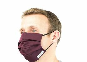 Masca protectie fata, refolosibila, din tercot certificat, 3 pliuri, elastic, unisex